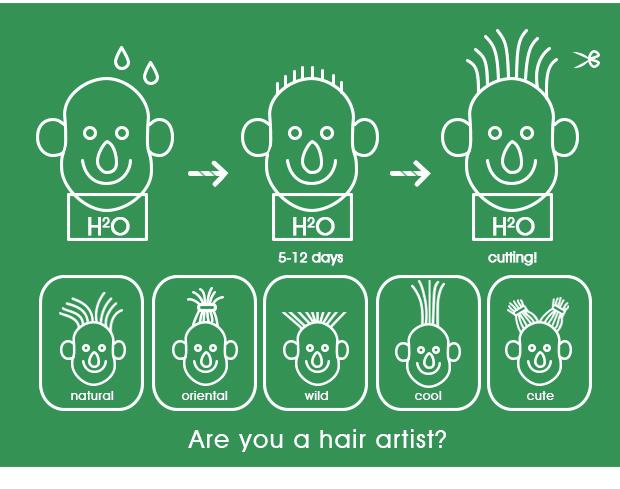 頭から植物が生えるヘアーラボ